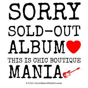 Sorry Sold-out Album [Love Heart] This Is Chic Boutique Mania [Electric Guitar]
