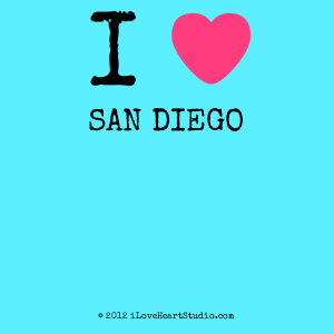 I [Love Heart] San Diego