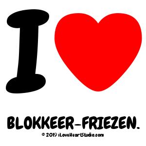 I [Love Heart] Blokkeer-friezen.